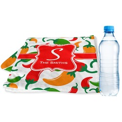 Colored Peppers Sports Towel (Personalized)