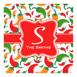 Colored Peppers Square Decal (Personalized)