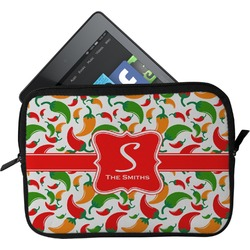 Colored Peppers Tablet Case / Sleeve - Small (Personalized)