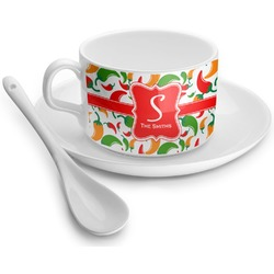 Colored Peppers Tea Cups (Personalized)