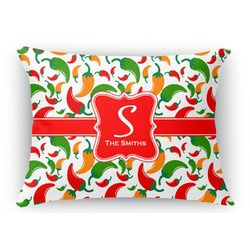Colored Peppers Rectangular Throw Pillow (Personalized)