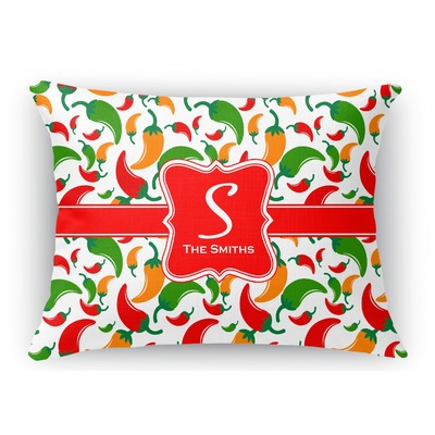 Colored Peppers Rectangular Throw Pillow Case (Personalized)