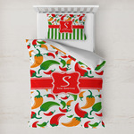Colored Peppers Toddler Bedding w/ Name and Initial