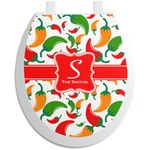 Colored Peppers Toilet Seat Decal (Personalized)