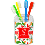 Colored Peppers Toothbrush Holder (Personalized)