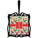 Colored Peppers Trivet with Handle (Personalized)