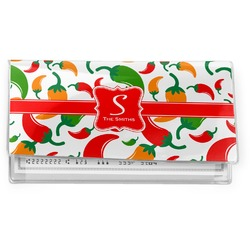 Colored Peppers Vinyl Checkbook Cover (Personalized)