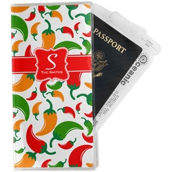 Colored Peppers Travel Document Holder