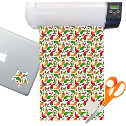 Colored Peppers Sticker Vinyl Sheet (Permanent)