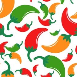 Colored Peppers Wallpaper & Surface Covering