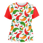 Colored Peppers Women's Crew T-Shirt (Personalized)