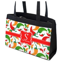 Colored Peppers Zippered Everyday Tote (Personalized)
