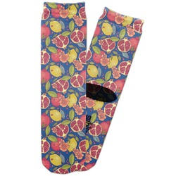 Pomegranates & Lemons Adult Crew Socks (Personalized)