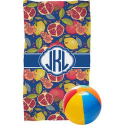 Pomegranates & Lemons Beach Towel (Personalized)