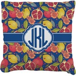 Pomegranates & Lemons Faux-Linen Throw Pillow (Personalized)