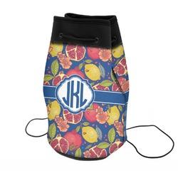 Pomegranates & Lemons Neoprene Drawstring Backpack (Personalized)