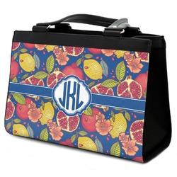 Pomegranates & Lemons Classic Tote Purse w/ Leather Trim (Personalized)