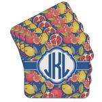 Pomegranates & Lemons Cork Coaster - Set of 4 w/ Monogram