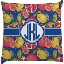 Pomegranates & Lemons Decorative Pillow Case (Personalized)