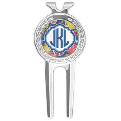 Pomegranates & Lemons Golf Divot Tool & Ball Marker (Personalized)