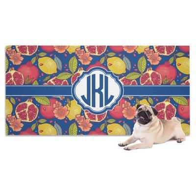 Pomegranates & Lemons Dog Towel (Personalized)
