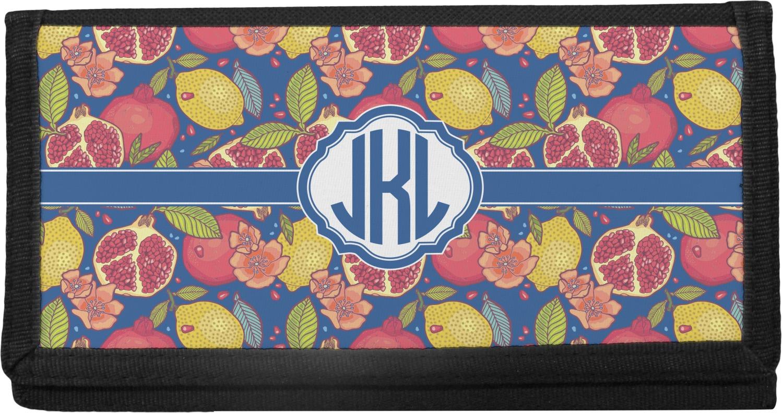 d9c6573d4af6 Pomegranates & Lemons Canvas Checkbook Cover (Personalized)