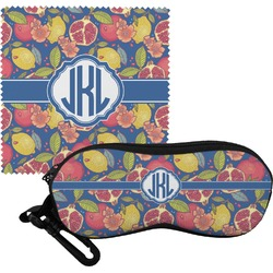 Pomegranates & Lemons Eyeglass Case & Cloth (Personalized)
