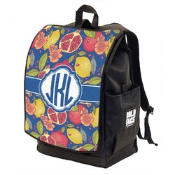 Pomegranates & Lemons Backpack w/ Front Flap  (Personalized)
