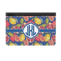 Pomegranates & Lemons Genuine Leather ID & Card Wallet - Slim Style (Personalized)