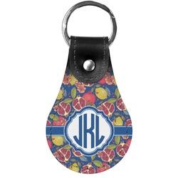 Pomegranates & Lemons Genuine Leather  Keychain (Personalized)
