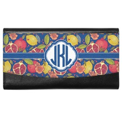 Pomegranates & Lemons Genuine Leather Ladies Wallet (Personalized)