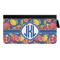 Pomegranates & Lemons Genuine Leather Ladies Zippered Wallet (Personalized)