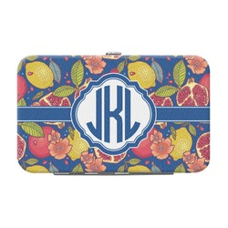 Pomegranates & Lemons Genuine Leather Small Framed Wallet (Personalized)