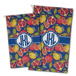 Pomegranates & Lemons Golf Towel - Full Print w/ Monogram