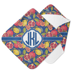 Pomegranates & Lemons Hooded Baby Towel (Personalized)