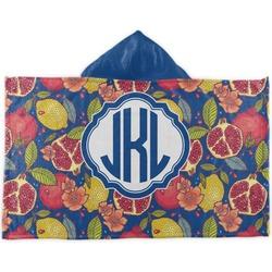 Pomegranates & Lemons Kids Hooded Towel (Personalized)