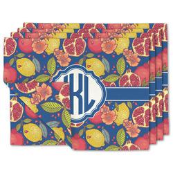 Pomegranates & Lemons Linen Placemat w/ Monogram