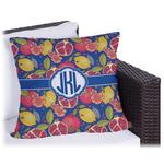 Pomegranates & Lemons Outdoor Pillow (Personalized)