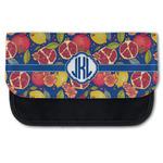 Pomegranates & Lemons Canvas Pencil Case w/ Monogram