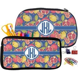 Pomegranates & Lemons Pencil / School Supplies Bag (Personalized)