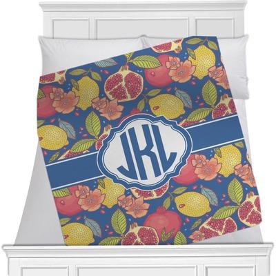 Pomegranates & Lemons Fleece Blanket - Toddler / Throw - 60