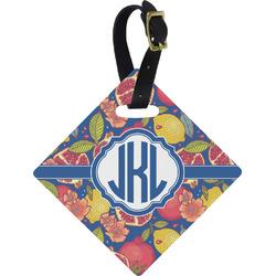 Pomegranates & Lemons Diamond Luggage Tag (Personalized)