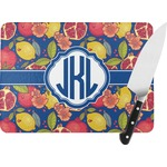 Pomegranates & Lemons Rectangular Glass Cutting Board (Personalized)