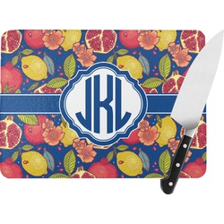 Pomegranates & Lemons Rectangular Glass Cutting Board (Personalized)