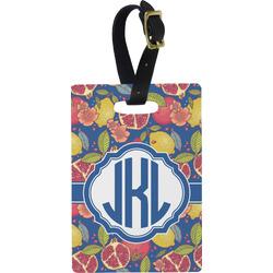 Pomegranates & Lemons Rectangular Luggage Tag (Personalized)