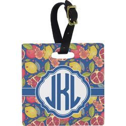 Pomegranates & Lemons Square Luggage Tag (Personalized)
