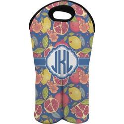Pomegranates & Lemons Wine Tote Bag (2 Bottles) (Personalized)