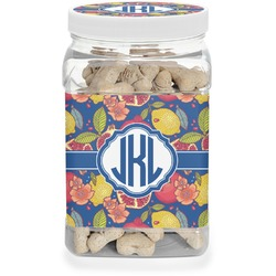 Pomegranates & Lemons Dog Treat Jar (Personalized)
