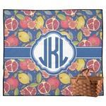 Pomegranates & Lemons Outdoor Picnic Blanket (Personalized)
