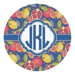 Pomegranates & Lemons Round Decal - Custom Size (Personalized)